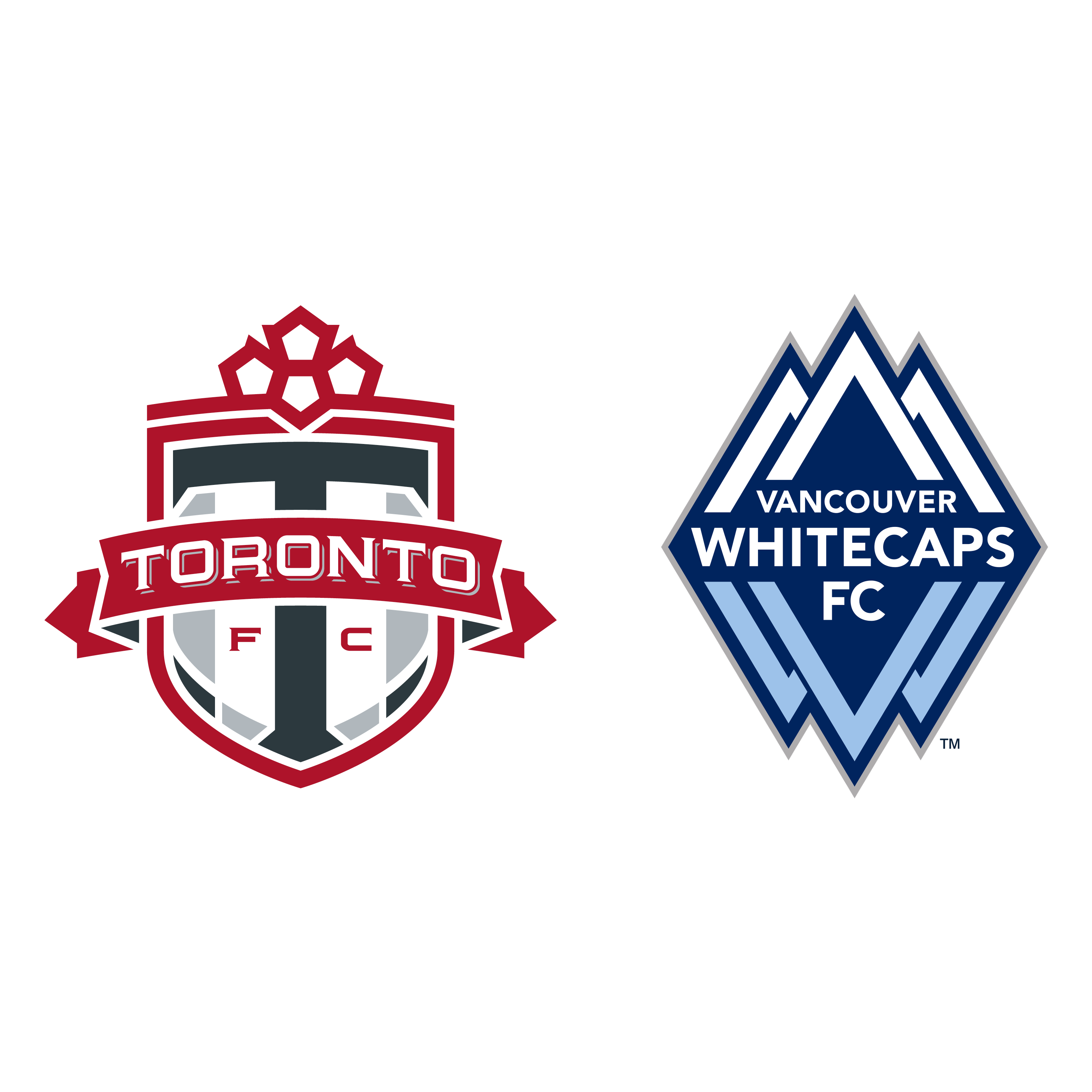 Toronto FC and Vancouver FC logos