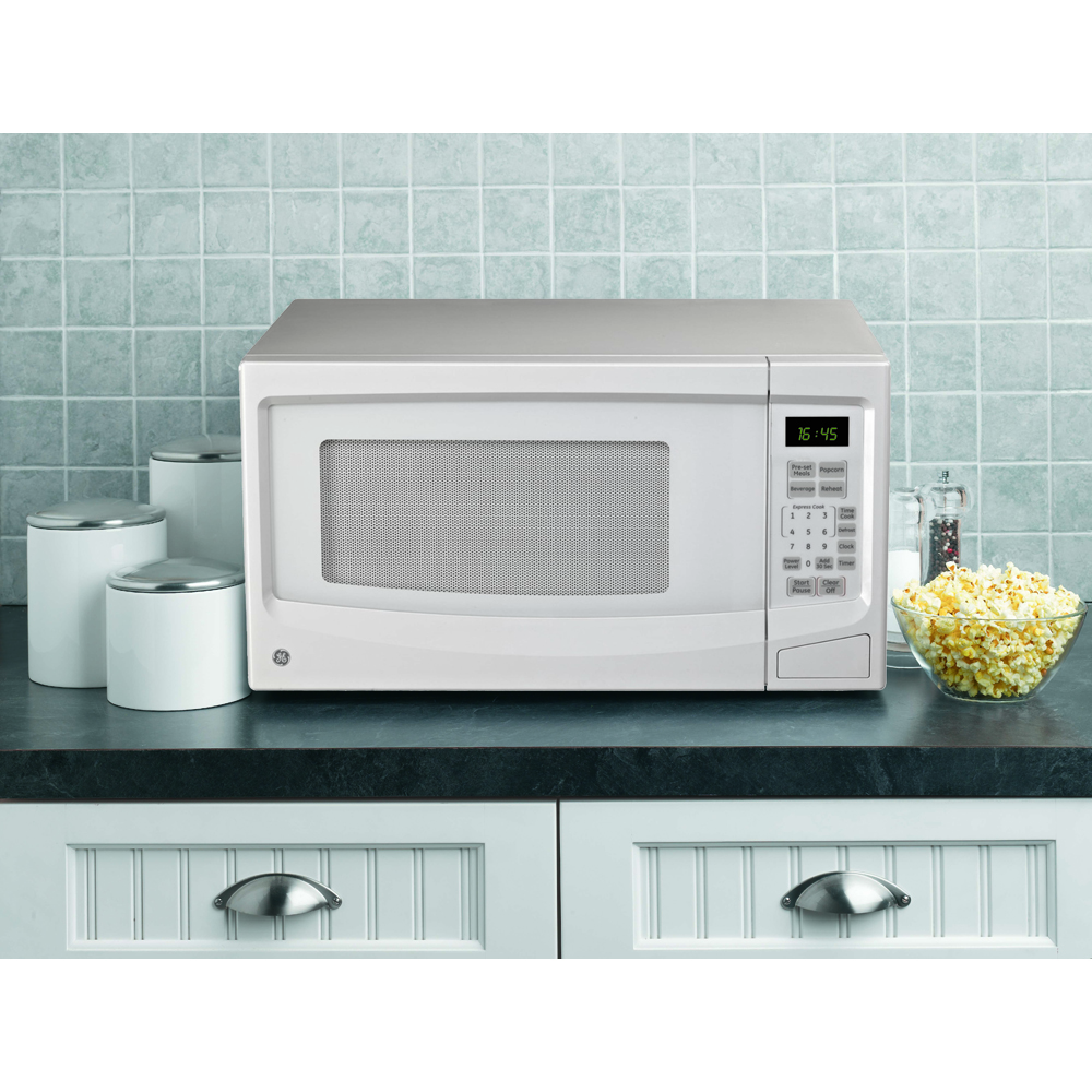 Ge 1 1 Cu Ft Countertop Microwave White Jes1145wtc Ge Appliances