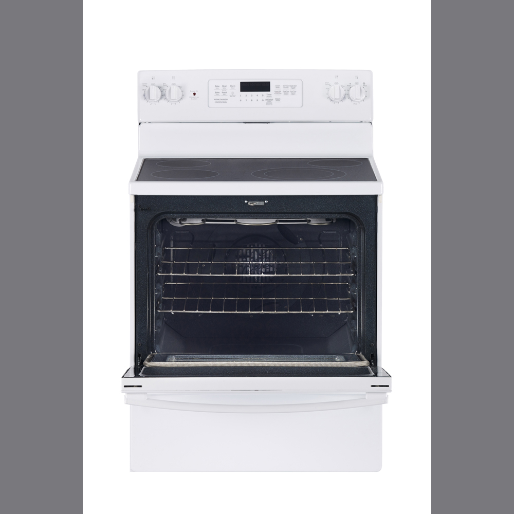 """GE 30"""" Electric Free Standing Convection Range White ..."""